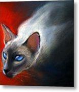 Siamese Cat 7 Painting Metal Print by Svetlana Novikova