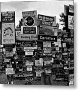 Sign Post Forest Metal Print by Juergen Weiss