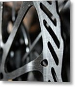 Silver Brake Metal Print by Angie Wingerd