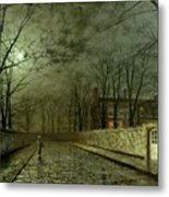 Silver Moonlight Metal Print by John Atkinson Grimshaw