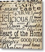 Simple Speak Kitchen Metal Print by Grace Pullen