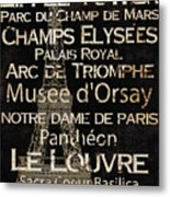 Simple Speak Paris Metal Print by Grace Pullen
