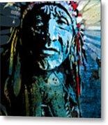 Sioux Chief Metal Print by Paul Sachtleben