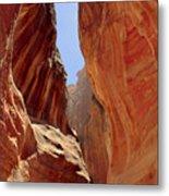 Siq Path Slot Canyon Petra Metal Print by Paul Cowan