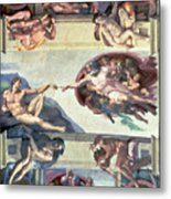 Sistine Chapel Ceiling Creation Of Adam Metal Print by Michelangelo