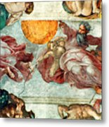 Sistine Chapel Ceiling Creation Of The Sun And Moon Metal Print by Michelangelo