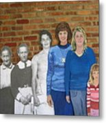 Six Generations Of Women Metal Print by Betty Pieper