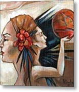 Skecthbook Metal Print by Jacque Hudson