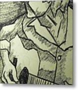 Sketch - Guitar Man Metal Print by Kamil Swiatek