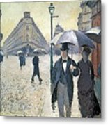 Sketch For Paris A Rainy Day Metal Print by Gustave Caillebotte