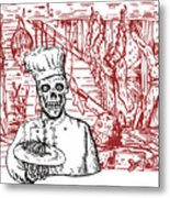Skull Cook Metal Print by Aloysius Patrimonio