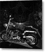 Skull Harley Metal Print by Tim Dangaran