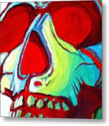 Skull Original Madart Painting Metal Print by Megan Duncanson