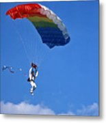 Skydiving - 1 Metal Print by Randy Muir