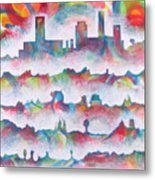 Skyline Metal Print by Rollin Kocsis