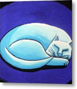 Sleeping Cat Metal Print by Genevieve Esson