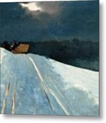 Sleigh Ride Metal Print by Winslow Homer