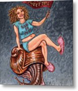Slo Woman Metal Print by Holly Wood