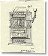 Slot Machine 1932 Patent Art Metal Print by Prior Art Design