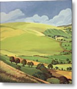 Small Green Valley Metal Print by Anna Teasdale