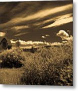 Small Town Church Metal Print by Marilyn Hunt