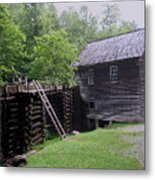 Smoky Mountain Mill Metal Print by CGHepburn Scenic Photos