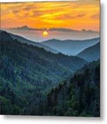 Smoky Mountains Sunset - Great Smoky Mountains Gatlinburg Tn Metal Print by Dave Allen
