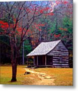 Smoky Mtn. Cabin Metal Print by Paul W Faust -  Impressions of Light