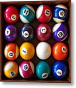 Snooker Balls Metal Print by Carlos Caetano