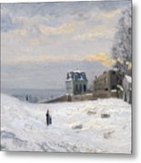 Snow At Montmartre Metal Print by Hippolyte Camille Delpy