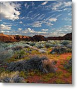 Snow Canyon Evening Glow Metal Print by William Gillam