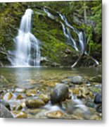 Snow Creek Falls Metal Print by Idaho Scenic Images Linda Lantzy