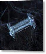 Snowflake Photo - Capped Column Metal Print by Alexey Kljatov