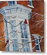 Snowy Bay Metal Print by Patsy Sharpe