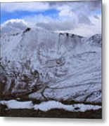Snowy Mountain Metal Print by Angie Wingerd