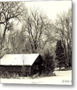 Soft Snow Cover Metal Print by Don Durfee