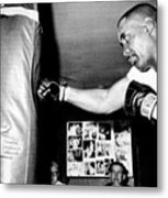 Sonny Liston Working Out On The Heavy Metal Print by Everett
