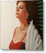 Sophia Loren 2  Metal Print by Paul Meijering
