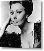 Sophia Loren, In Costume For Arabesque Metal Print by Everett
