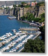 Sorrento Seaport Metal Print by Mindy Newman