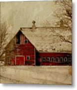 South Dakota Barn Metal Print by Julie Hamilton