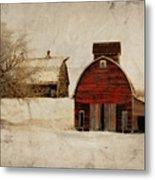 South Dakota Corn Crib Metal Print by Julie Hamilton