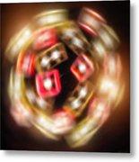 Sphere Of Light Metal Print by Wim Lanclus