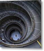 Spiral Staircase Metal Print by Maico Presente