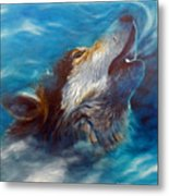 Spirit Of The Wolf Metal Print by Brian  Commerford