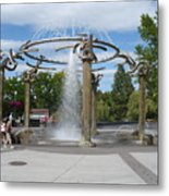 Spokane Fountain Metal Print by Carol Groenen