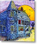 Spooky House Metal Print by Jame Hayes