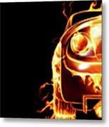 Sports Car In Flames Metal Print by Oleksiy Maksymenko