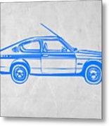 Sports Car Metal Print by Naxart Studio