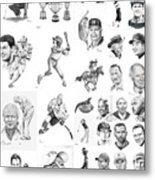 Sports Figures Collage Metal Print by Murphy Elliott
